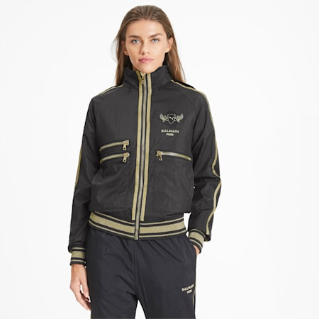 PUMA x BALMAIN Woven Track Jacket, Puma Black, small