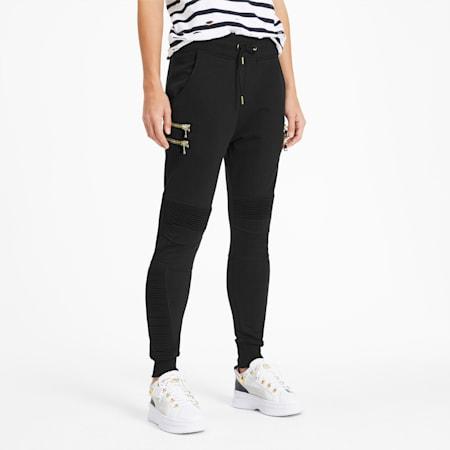 PUMA x BALMAIN Women's Biker Sweatpants, Puma Black, small-SEA
