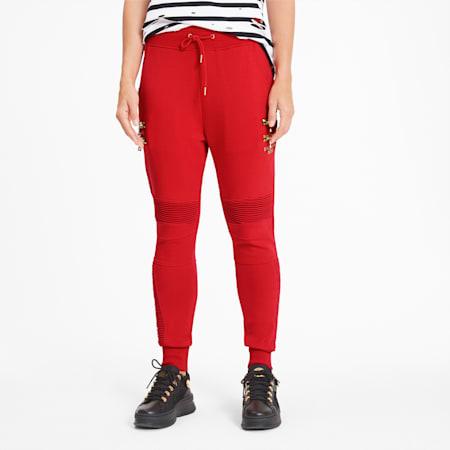 PUMA x BALMAIN Women's Biker Sweatpants, High Risk Red, small-SEA