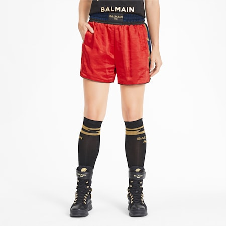 PUMA x BALMAIN Damen Boxshorts, High Risk Red, small