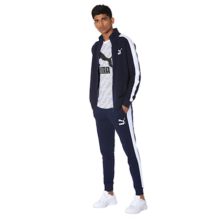 Iconic T7 Men's Track Pants, Peacoat, small-IND