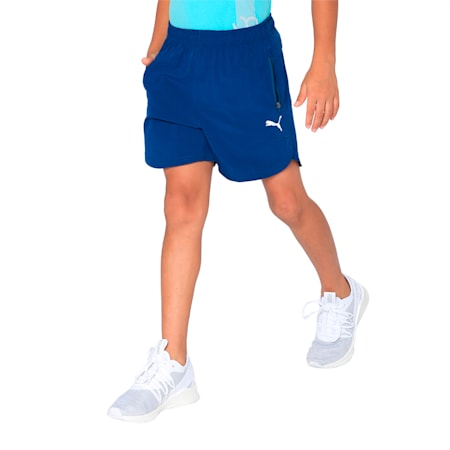 PUMA x one8 Virat Kohli Kids' Active Shorts, Gibraltar Sea, small-IND