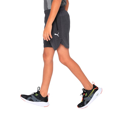 PUMA x one8 Virat Kohli Kids' Active Shorts, Dark Gray Heather, small-IND