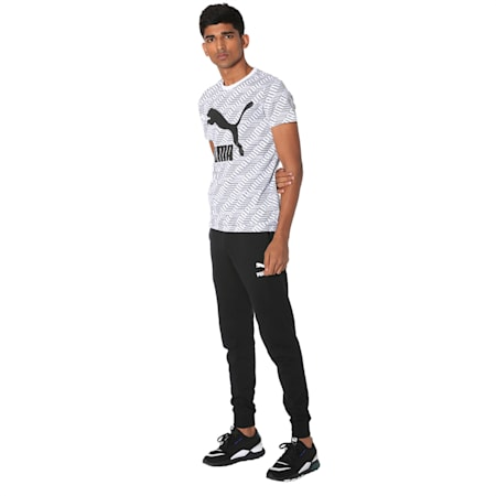 Classics Graphics All-Over Printed Men's Tee, Puma White-Repeat logo, small-IND