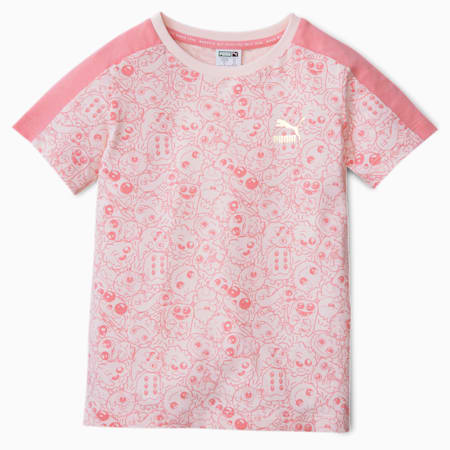 Monster Printed Kids' Tee, Rosewater, small