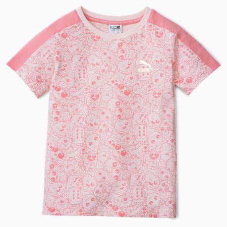 T-shirt per bambino Monster con stampa su tutta la superficie, Rosewater, small
