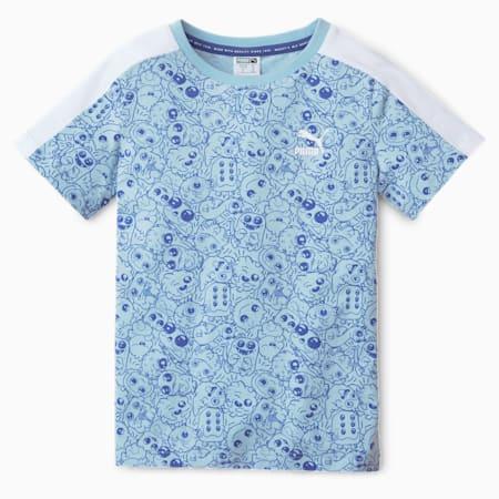 T-shirt per bambino Monster con stampa su tutta la superficie, Bright Cobalt, small