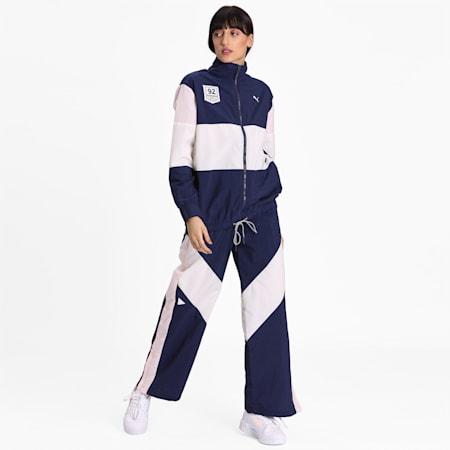 PUMA x SELENA GOMEZ Women's Track Jacket, Peacoat-Whisper Wht-Pink, small-IND