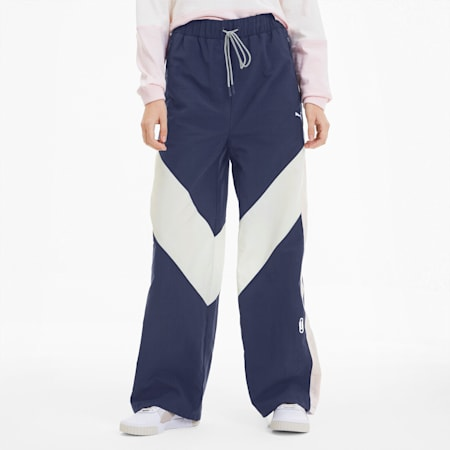 Pantaloni della tuta PUMA x SELENA GOMEZ donna, Peacoat-Whisper White-Pink, small