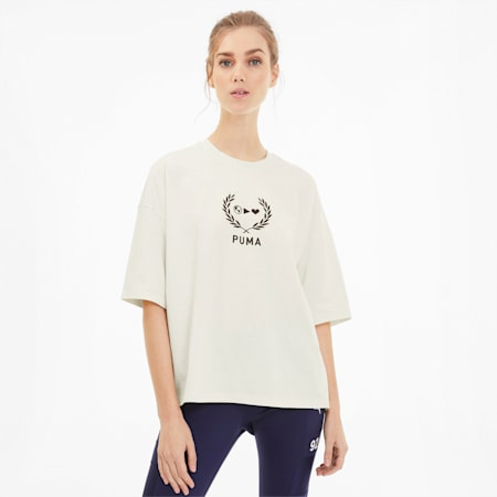 PUMA x SELENA GOMEZ Oversized Women's Tee, Whisper White, small-SEA