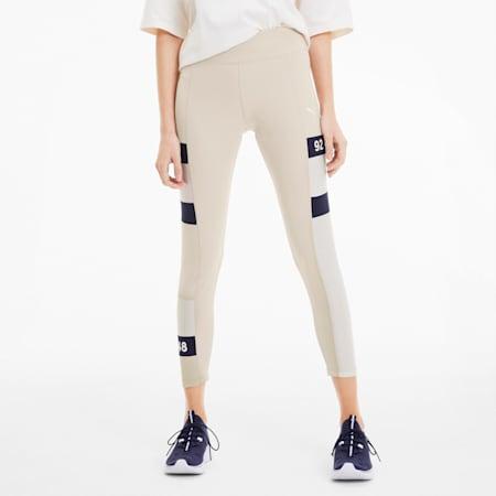 SG x PUMA Women's Leggings, Silver Gray-Whisper White, small