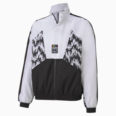 Tailored for Sport OG Men's AOP Track Jacket, Puma Black, small