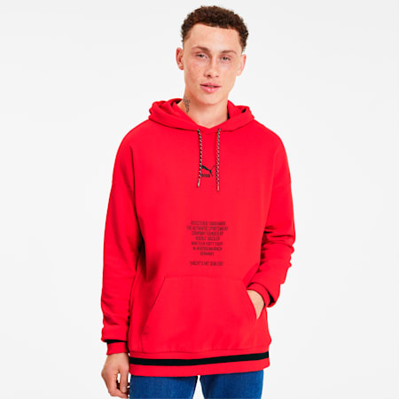Sudadera con capucha Tailored for Sport para hombre, High Risk Red, pequeño