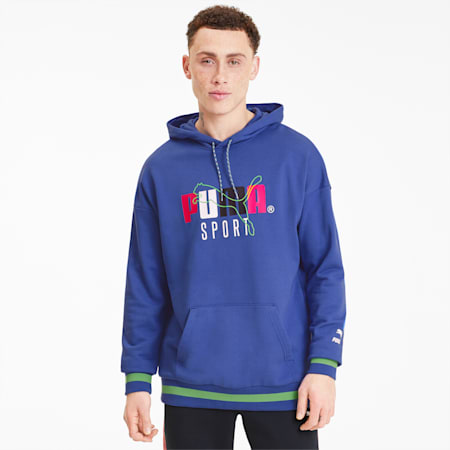 Tailored for Sport Men's Hoodie, Dazzling Blue, small