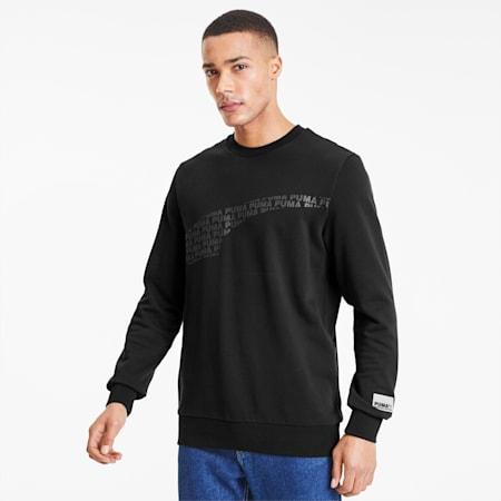 Avenir Graphic Crew Neck Sweater, Puma Black, small