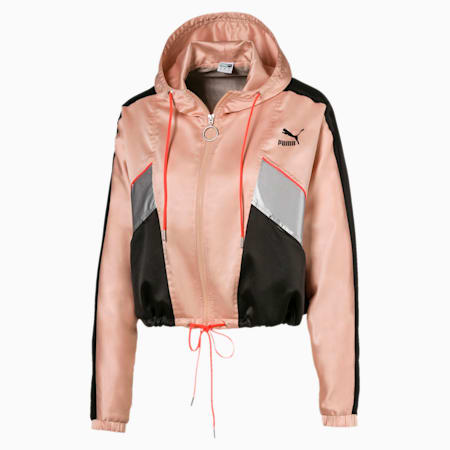 Tailored for Sport Fashion Lux Women's Track Jacket, Pink Sand, small