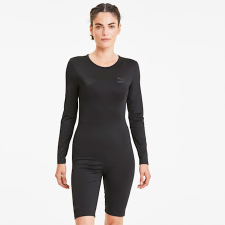 Tailored for Sport Fashion Damen Leotard, Puma Black, small