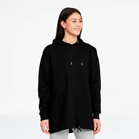 Sudadera moderna con capucha Tailored for Sport para mujer, Puma Black, pequeño