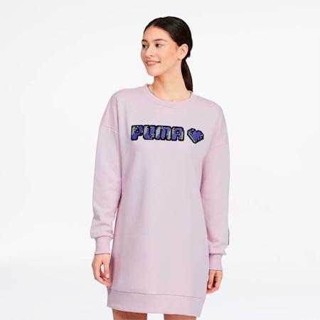 Vestido Digital Love para mujer, Lilac Snow, pequeño