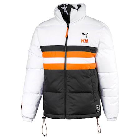 PUMA x HELLY HANSEN Fake Down Jacket, Puma Black-AOP front, small-SEA
