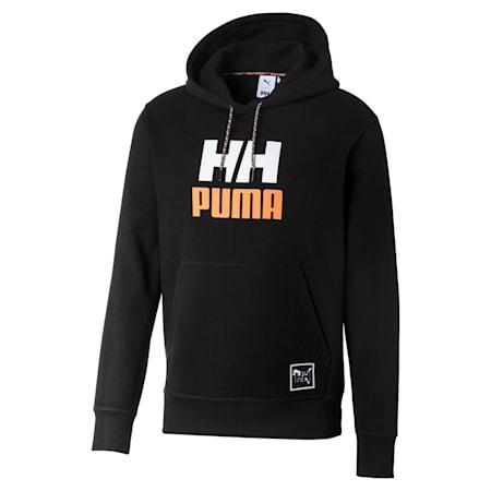 PUMA x HELLY HANSEN Long Sleeve Hoodie, Puma Black, small-SEA