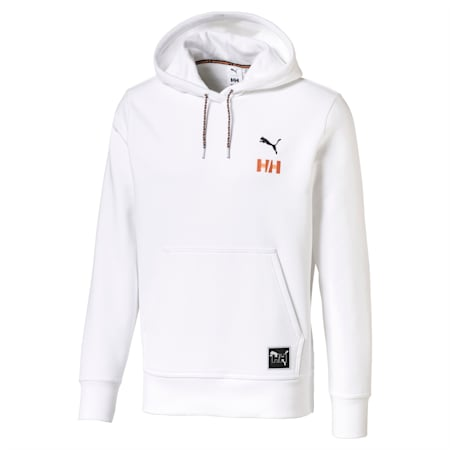 PUMA x HELLY HANSEN Long Sleeve Hoodie, Puma White, small-IND