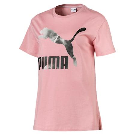 CLOUD パック ウィメンズ グラフィック Tシャツ, Bridal Rose, small-JPN