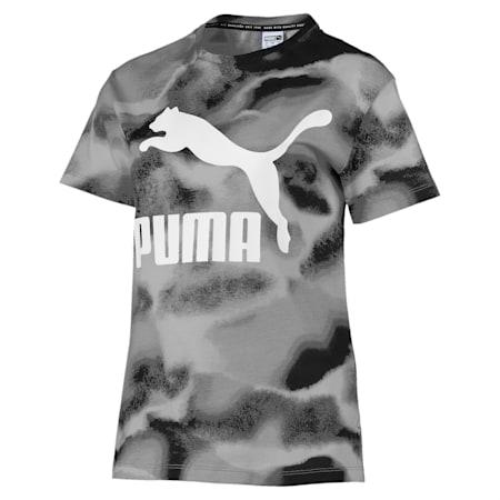 CLOUD パック ウィメンズ AOP Tシャツ, Puma Black, small-JPN