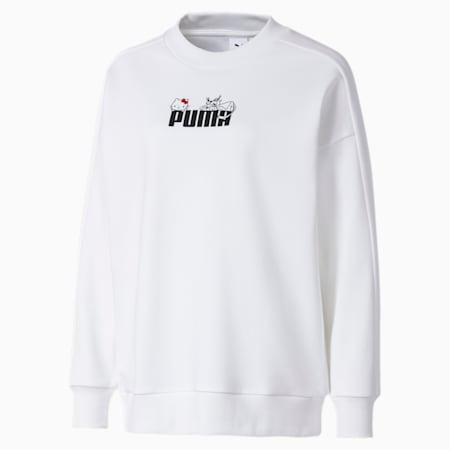 PUMA x HELLO KITTY ウィメンズ クルースウェット, Puma White, small-JPN