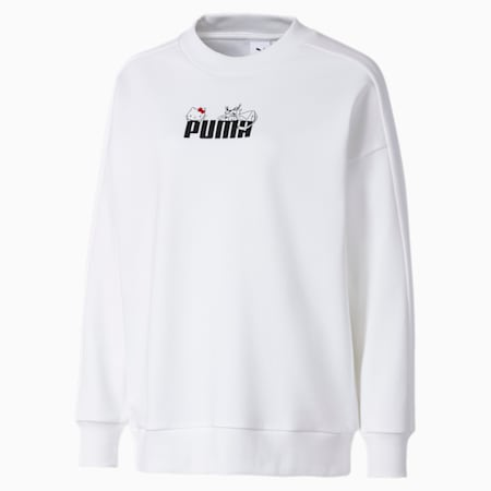 PUMA x HELLO KITTY Women's Crewneck Sweatshirt, Puma White, small