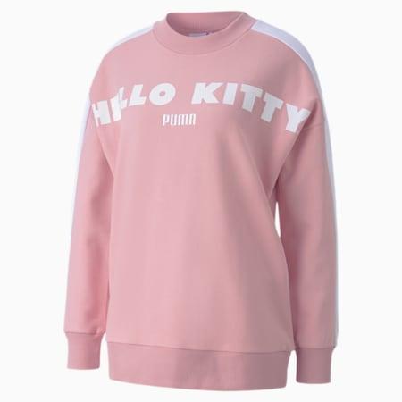 PUMA x HELLO KITTY ウィメンズ クルースウェット, Silver Pink, small-JPN