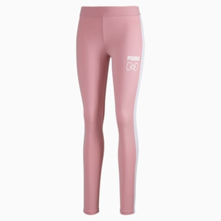 PUMA x HELLO KITTY Women's Leggings, Silver Pink, small-SEA