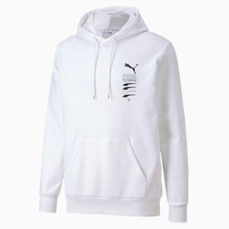 PUMA Club Men's Hoodie, Puma White, small