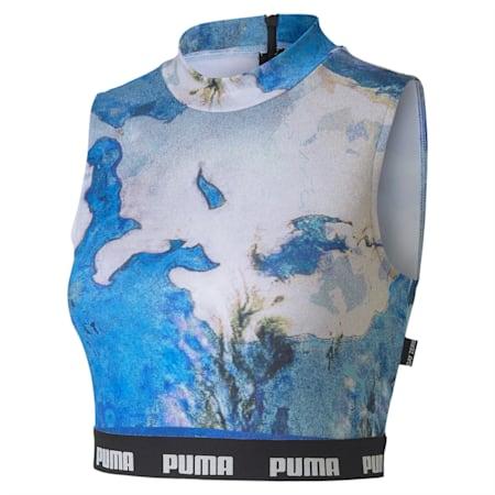 PUMA x CENTRAL SAINT MARTINS Women's AOP Top, Puma White-AOP, small-IND