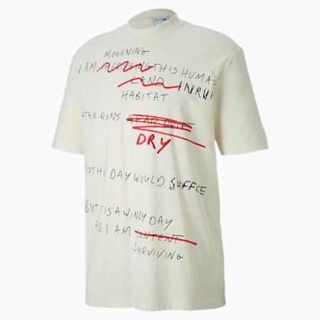 Camiseta PUMA x CENTRAL SAINT MARTINS AOP para hombre, Puma White-AOP, pequeño