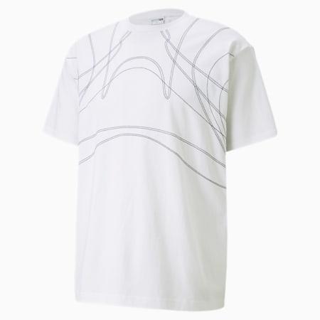Camiseta PUMA x BILLY WALSH King para hombre, Puma White, pequeño