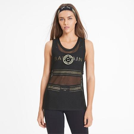 PUMA x BALMAIN Mesh Women's Tank Top, Puma Black, small
