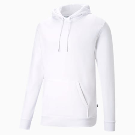 Blank Men's Hoodie, Puma White, small