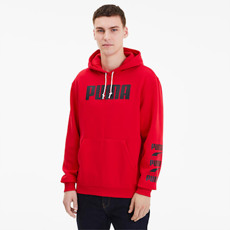 Rebel Bold Men's Hoodie, High Risk Red, small