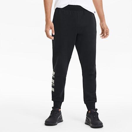 Rebel Bold Men's Sweatpants, Puma Black-Puma White, small