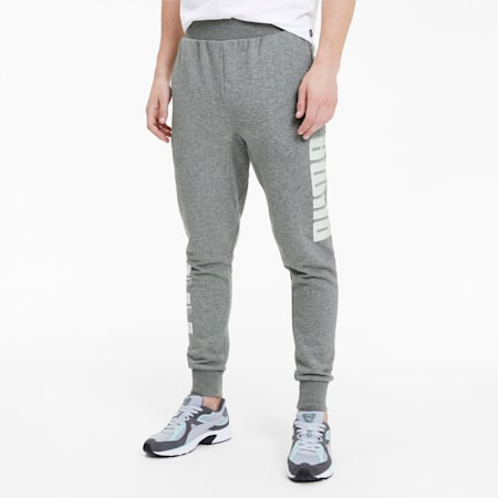 Rebel Bold Men's Sweatpants, Medium Gray Heather, small