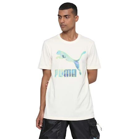 PUMA x CENTRAL SAINT MARTINS Men's Logo T-Shirt, Puma White, small-IND