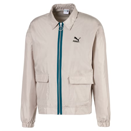 Lightweight Woven Men's Jacket, Dove, small