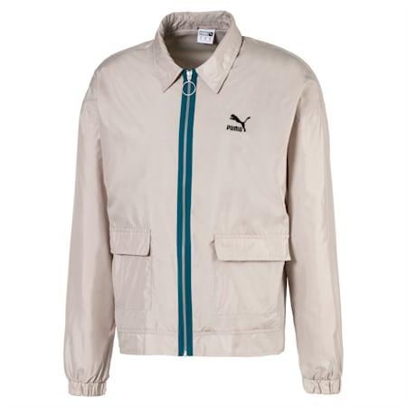 Lightweight Woven Men's Jacket, Dove, small