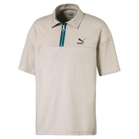 Meska luzna koszulka polo, Dove, small