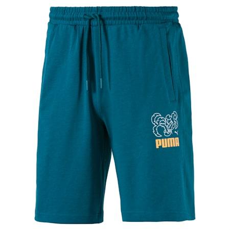 Herren Gestrickte Jersey Shorts, Blue Coral, small