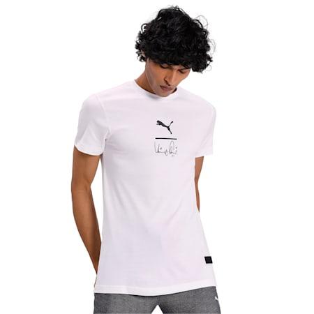 PUMA x Virat Kohli Signature Stylised Men's T-Shirt, Puma White, small-IND