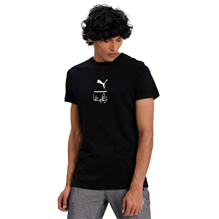 PUMA x Virat Kohli Signature Stylised Men's T-Shirt, Puma Black, small-IND