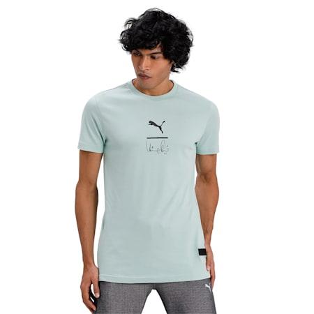PUMA x Virat Kohli Signature Stylised Men's T-Shirt, Mist Green, small-IND
