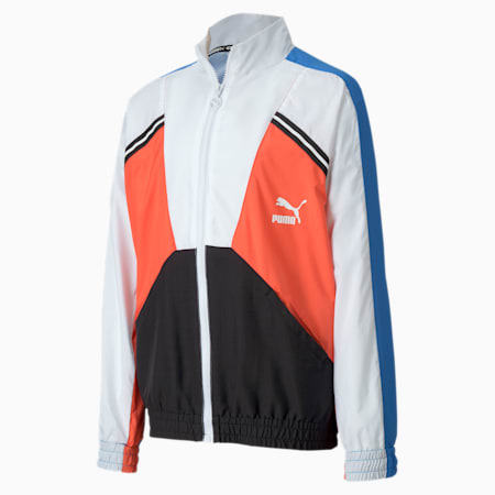 Tailored for Sport Boys' Woven Jacket JR, Palace Blue, small